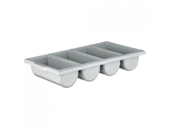 Лоток для столовых приборов 4х секционный пластик (0072)