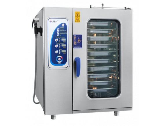 Пароконвектомат ПКА-10-1/1ПМФ (морской, парогенератор, 10 GN 1/1, вся нерж, без гастроемкостей, 3х-канальный щуп, регулировка влажности, 5 скоростей вращения вентилятора, фиксация двери, крепление к полу) + 110 программ (110000002295)