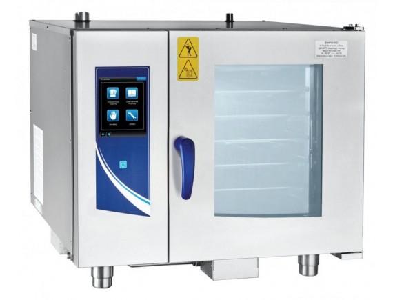 Пароконвектомат ПКА 6-1/1ПП2 (парогенератор, 120 установленных программ и 360 доп, автоматическая мойка, 6 уровней GN 1/1, вся нерж, без гастроемкостей, ЖК экран, сенсорное управление, прошивка через USB) (110000007069)