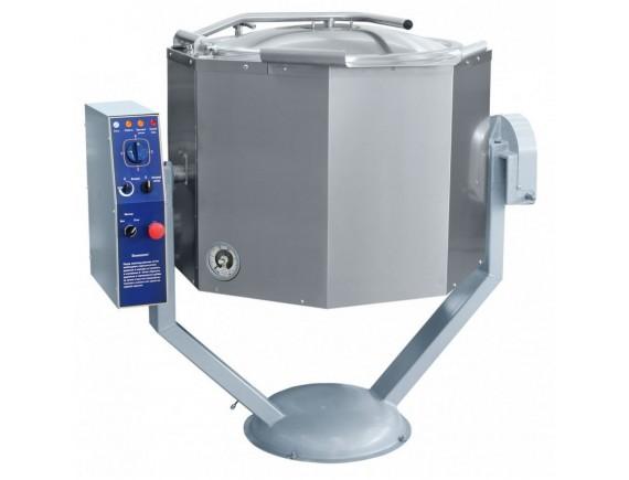 Котел пищеварочный КПЭМ-100-ОМР нижн.привод миксера (100 л, 100°С, пар.рубашка, руч.опрокидывание, цельнотянутый) (110000019425)