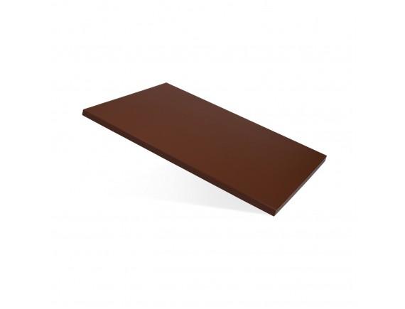 Доска разделочная полипропилен коричневая (60X40X1,5CM) (1505)
