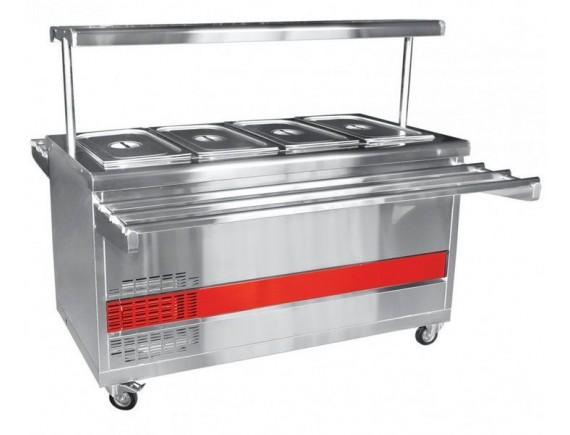 Прилавок холодильный ПВВ(Н)-70ПМ-01-НШ (откр., полка с подсветкой,с г/емкост.,1500 мм.) /вся нерж./ (210000000454)