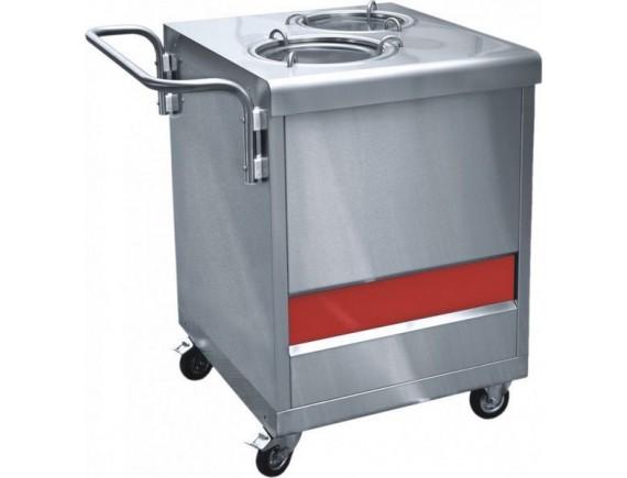 Прилавок  ПТЭ-70КМ(П)-80 для подогрева тарелок (80 тарелок, 2х240 мм., 630 мм.) кашир. (210000807549)