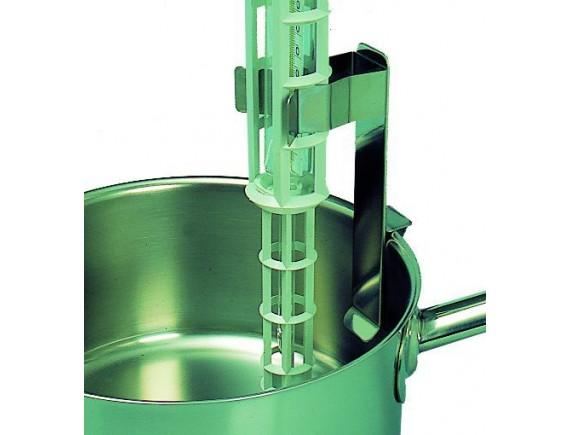Держатель термометра (все модели) для кастрюль, сотейников, контейнеров без регулирования, нерж.сталь (250500)