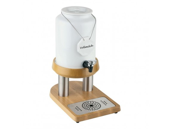 Диспенсер для молока 23х32х42 см, 4 л, фарфор, на подставке (41900-04)