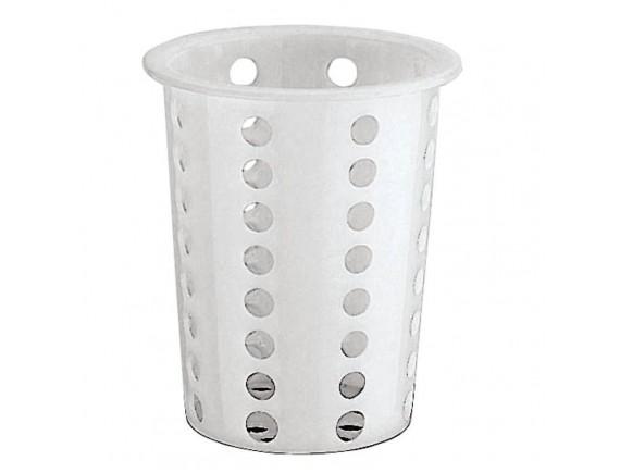 Стакан для столовых приборов d9,5см h13,5см пластик (42586-09)
