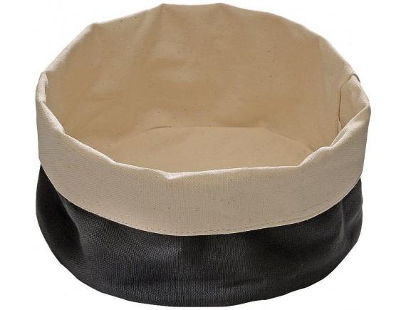 Мешок матерчатый для подачи хлеба 17х8 см, черный (42875B17)