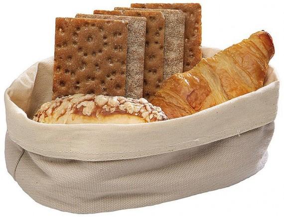 Мешок матерчатый для подачи хлеба 20х15х7 см, светлый (42876-20)