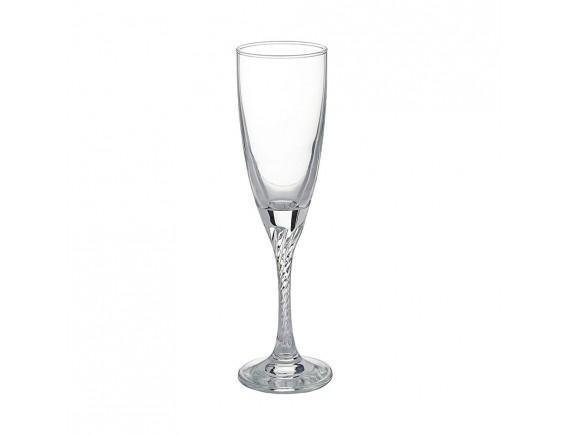 Бокал-флюте «Твист», стекло, 150мл, D=55, H=210мм, прозрачный (44307)
