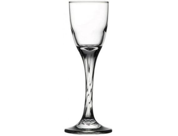 Рюмка «Твист», стекло, 55мл, D=47, H=150мм, прозрачный (44612)