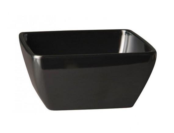 Салатник 19х19х8 см черный меламин (44847B20)