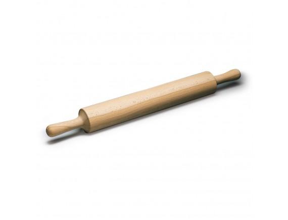 Скалка с ручками д. 9 см, длина 50 см, дерево (47038-50)