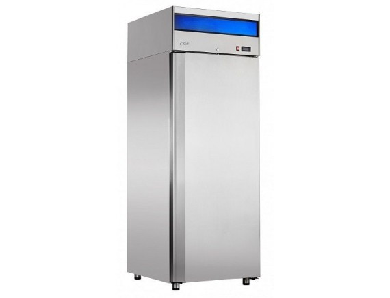 Шкаф холодильный ШХн-0,7-01 нерж. (740х820х2050) t -18°С, верх.агрегат, ТЭН оттайки, мех.замок, доводчик, ванна выпаривания конденсата (710000002412)