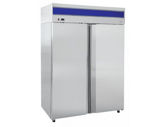 Шкаф холодильный ШХн-1,4-01 нерж. (1485х820х2050) t -18°С, верх.агрегат, ТЭН оттайки, мех.замок, доводчик, ванна выпаривания конденсата (710000002413)