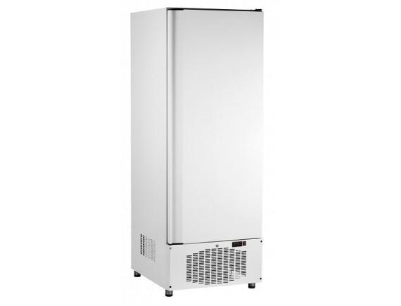 Шкаф холодильный ШХс-0,5-02 краш. (700х690х2050) t 0...+5°С, нижн.агрегат, авт.оттайка, мех.замок, ванна выпаривания конденсата (710000002455)
