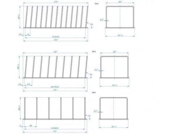 Комплект съёмных держателей (№20 - 1 шт, №40 - 1 шт, №65 - 1 шт) (710000049763)
