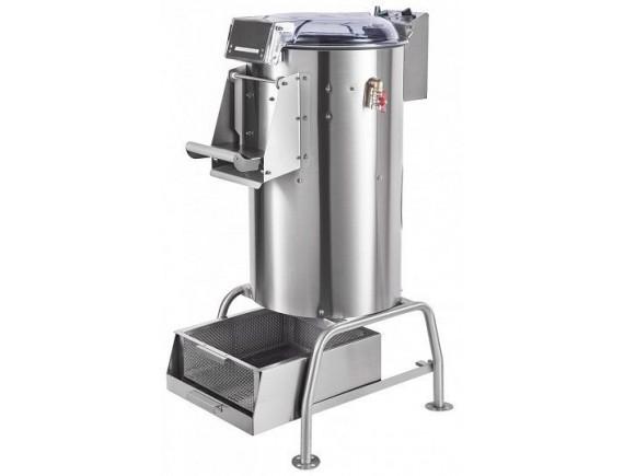 Машина картофелеочистительная кухонная МКК-300-01 с подставкой и мезгосборником, 300 кг/ч, 17 кг, время на обработку 2 мин, 0,75 кВт, 400В (710000209884)