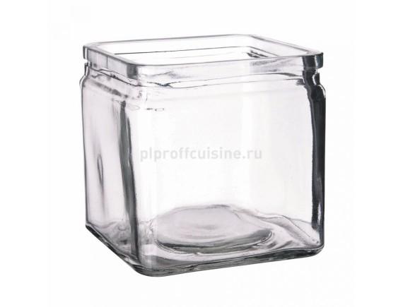 Банка квадратная для подачи стекло 12*12*12 cм, 1200мл (81200133)