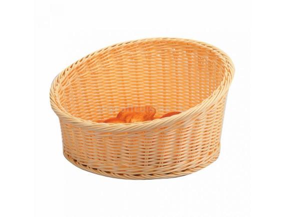 Подставка плетеная для выкладки выпечки  беж.круглая d=36/h=20см (95001265)