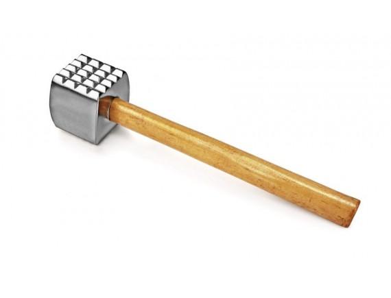 Молоток для мяса 32 см, алюминий, деревянная ручка (MT-AL)