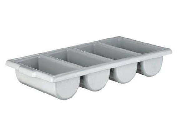 Контейнер для столовых приборов, 4х секционный пластик, Welshine. (0072)