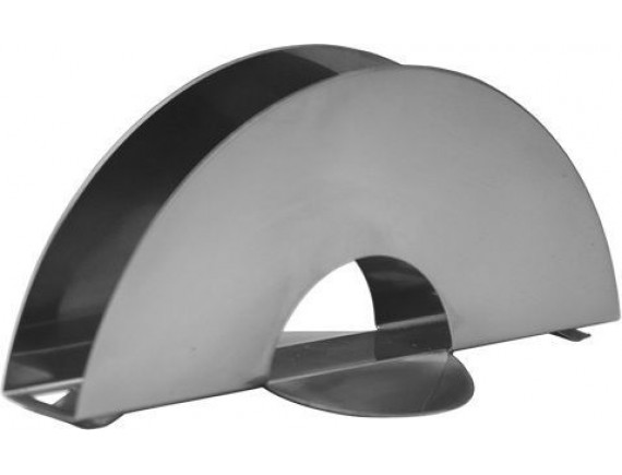 Салфетница полукруг L=150мм H=70мм, нержавеющая сталь, Luxstahl. (10-1079)