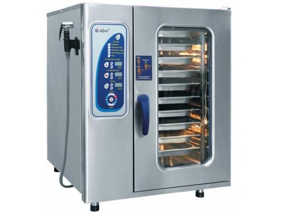 Пароконвектомат ПКА10-1/1ПМ (модель 2012: парогенератор, 10 GN 1/1, вся нерж, без гастроемкостей, 3х-канальный щуп, регулировка влажности, 5 скоростей вращения вентилятора) + 110 программ, Чувашторгтехника (110000007415)