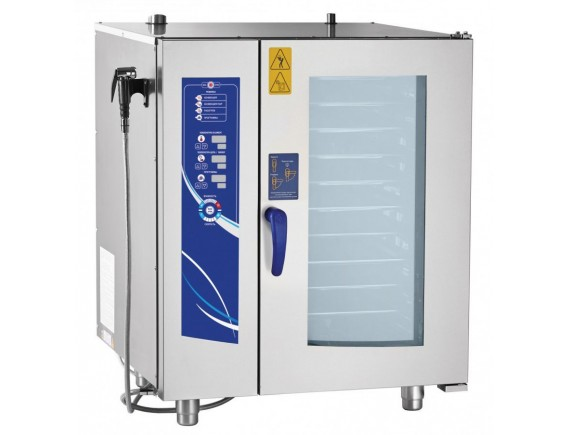 Пароконвектомат ПКА10-1/1ВМ2 (инжекционный., 10 GN 1/1, вся нерж, без гастроемкостей, 3х-канальный щуп, регулировка влажности, 5 скоростей вращения вентилятора) + 110 программ, Чувашторгтехника (110000019265)