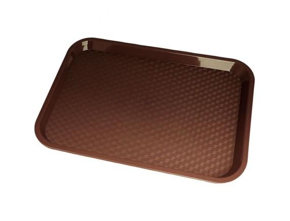 Поднос прямоугольный, 30х41 см, коричневый, пластик, Cambro. (1216FF167)