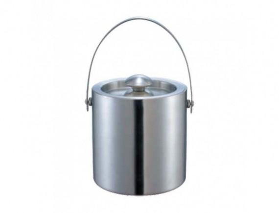 Ведро для льда с крышкой, 12х15см нержавеющая сталь, Dali. (123583)
