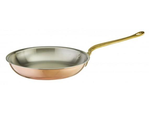 Сковорода, D-24 см, H-4,5 см, медная, Paderno. (15514-24)