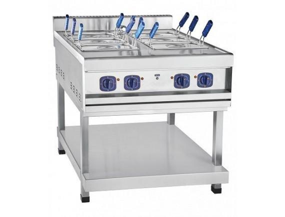 Электроварка кухонная двойная ЭВК-90/2П с перфорир. гастроём GN1/2 (800х900х1010) вся нерж. на подставке, Чувашторгтехника (210000001695)
