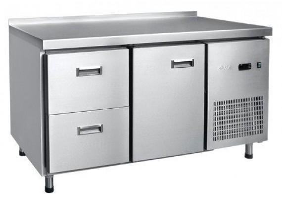 Стол холодильный СХС-70-01, 1 дверь, 2 выкатных ящ.GN 1/1, среднетемп. t (-2+8°С), 1430x700x860 мм., Чувашторгтехника (210000802417)