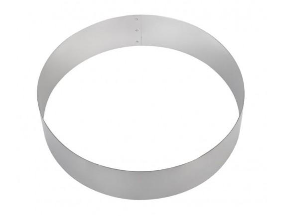 Кольцо для торта кондитерское, гарнира 26х5 см нержавеющая сталь, Luxstahl. (260502)