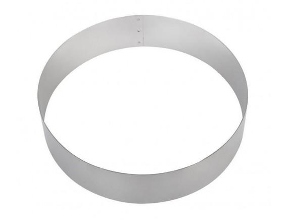 Кольцо для торта кондитерское, гарнира 26х6 см нержавеющая сталь, Хорс. (260602)