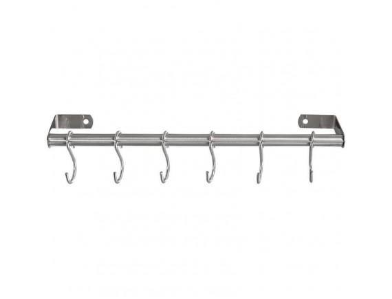 Планка для инвентаря 31,5 см с крючками нерж.сталь, Dali (321000)
