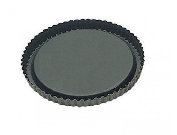 Кондитерская форма для выпечки 28х2.5 см, волнистый край, с антипригарным покрытием, Matfer Bourgeat (332236)