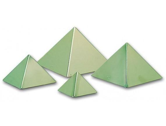 Форма для паштета кондитерская, 6х4 см, пирамида, нержавеющая сталь, 6 штук, Matfer Bourgeat. (341111)