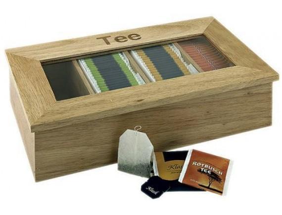 Коробка для чайных пакетиков 33,5х20х9 см, светлое дерево, Paderno (41614-33)