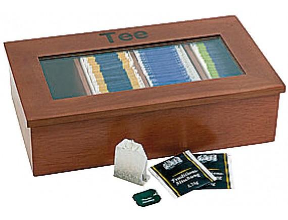 Коробка для чайных пакетиков 33,5х20х9 см, темное дерево, Paderno (41614-34)
