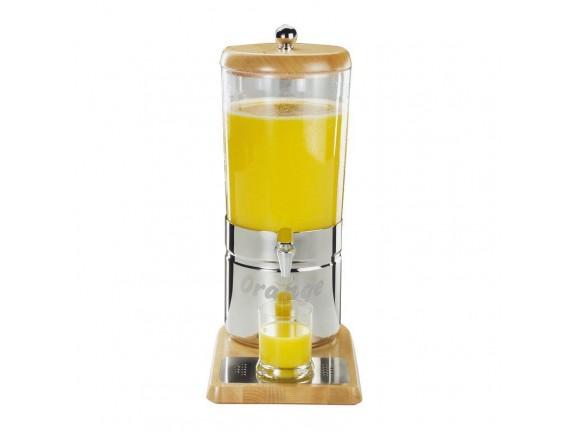 Диспенсер для сок с охлаждающими элементами, 23х35х52 см, 6 л, на подставке, Paderno. (41907-06)