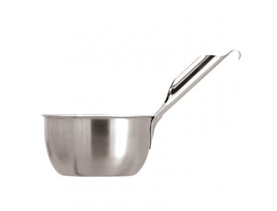 Миска кухонная с ручкой и крючком, нержавеющая сталь, D-19см H-10см 2л, Paderno. (41916-20)