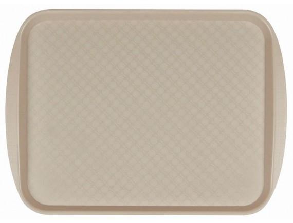 Поднос столовый, 420х300 мм бежевый полистирол, Рестола. (422106707)