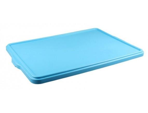 Крышка для лотка для теста, 665х440х28 мм, голубая полипропилен, Рестола. (422108602)
