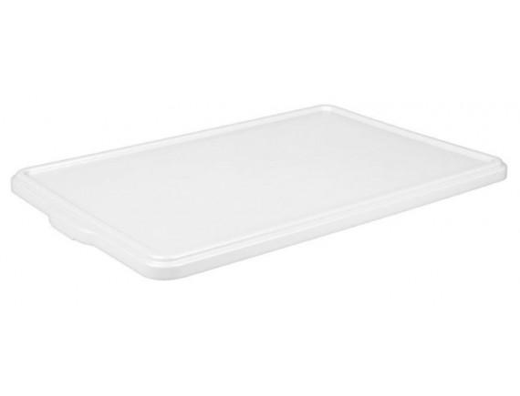 Крышка для лотка для теста, 665х440х28 мм, белая, полипропилен, Рестола. (422108616)