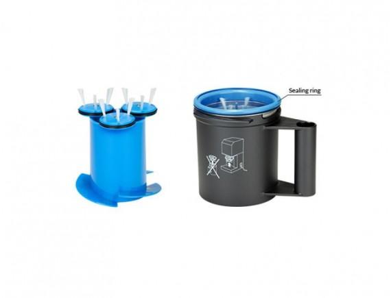 Вставка для чистки с вращающимися щетками из пластика, цвет синий, Pacojet AG. (42296)
