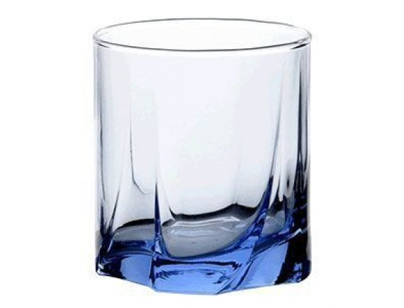 Олд Фэшн «Лайт блю», стекло, 230мл, D=74, H=81мм, синий, Pasabahce. (42338-blue)