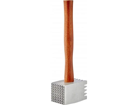 Молоток для отбивания мяса кухонный, 32 см, 0.6 кг, алюминий, деревянная ручка, Paderno. (42508-00)