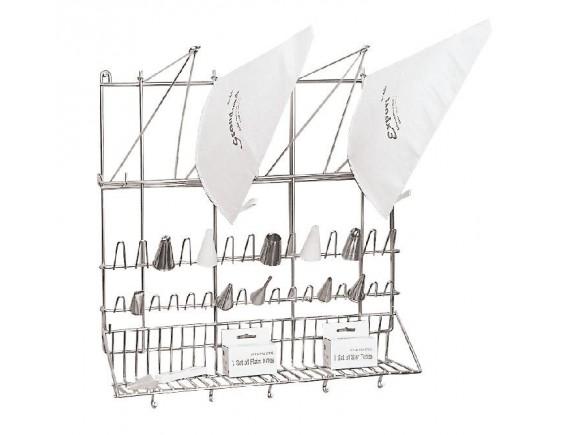 Сушилка для кондитерских мешков и насадок, 50х42х50 см нерж.сталь, Paderno. (47113-03)