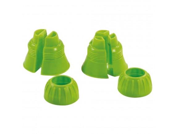 Переходник для насадок, двойной и тройной, набор из 2 штук, пластик, Paderno. (47212-05)
